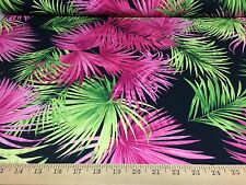 "Hawaiian Tropical Print 4 Way Stretch Heavy Weight Poly Lycra Fabric 58"" W BTY"