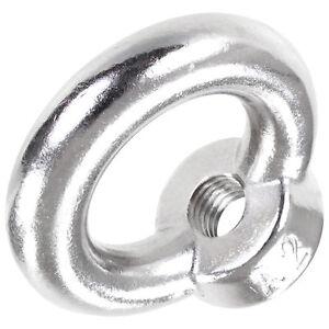 ringmutter din 582 a2 edelstahl v2a ring se mutter m6 m8 m10 m12 m16 ebay. Black Bedroom Furniture Sets. Home Design Ideas