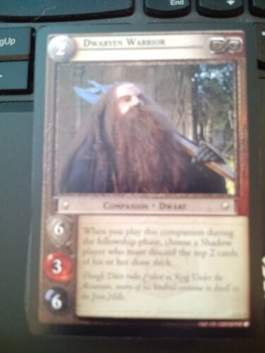 Lord of the Rings CCG Black Rider 12C7 Dwarven Warrior LOTR TCG NrMt-Mint