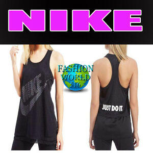 2704462a71b0 Nike Women s Size Medium Mesh Overlay Black White Tank Top 871760 ...