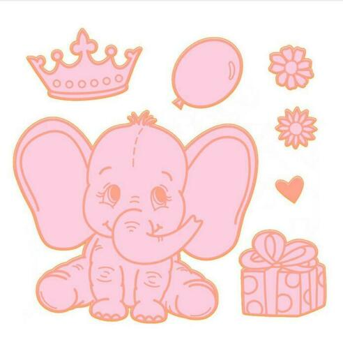 Elephant Animal Metal Cutting Dies Scrapbooking Die Craft Die Cuts Cards Making