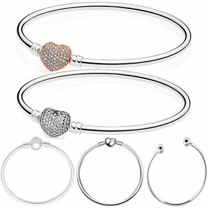 European-Silver-Bracelets-Bangle-Charm-Beads-Fit-DIY-925-sterling-Charms-Pendant