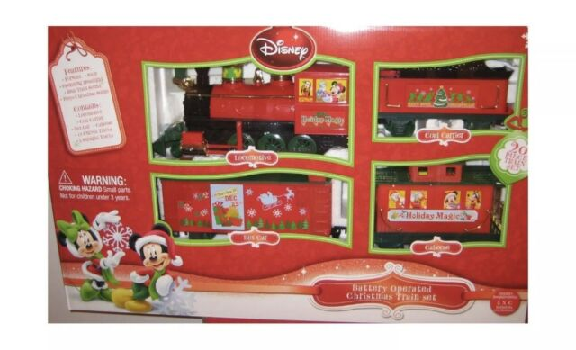 brand new disney battery operated christmas train set