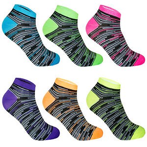 12 paar damen sneaker socken bunte f sslinge sportsocken freizeit kurzsocken ebay. Black Bedroom Furniture Sets. Home Design Ideas