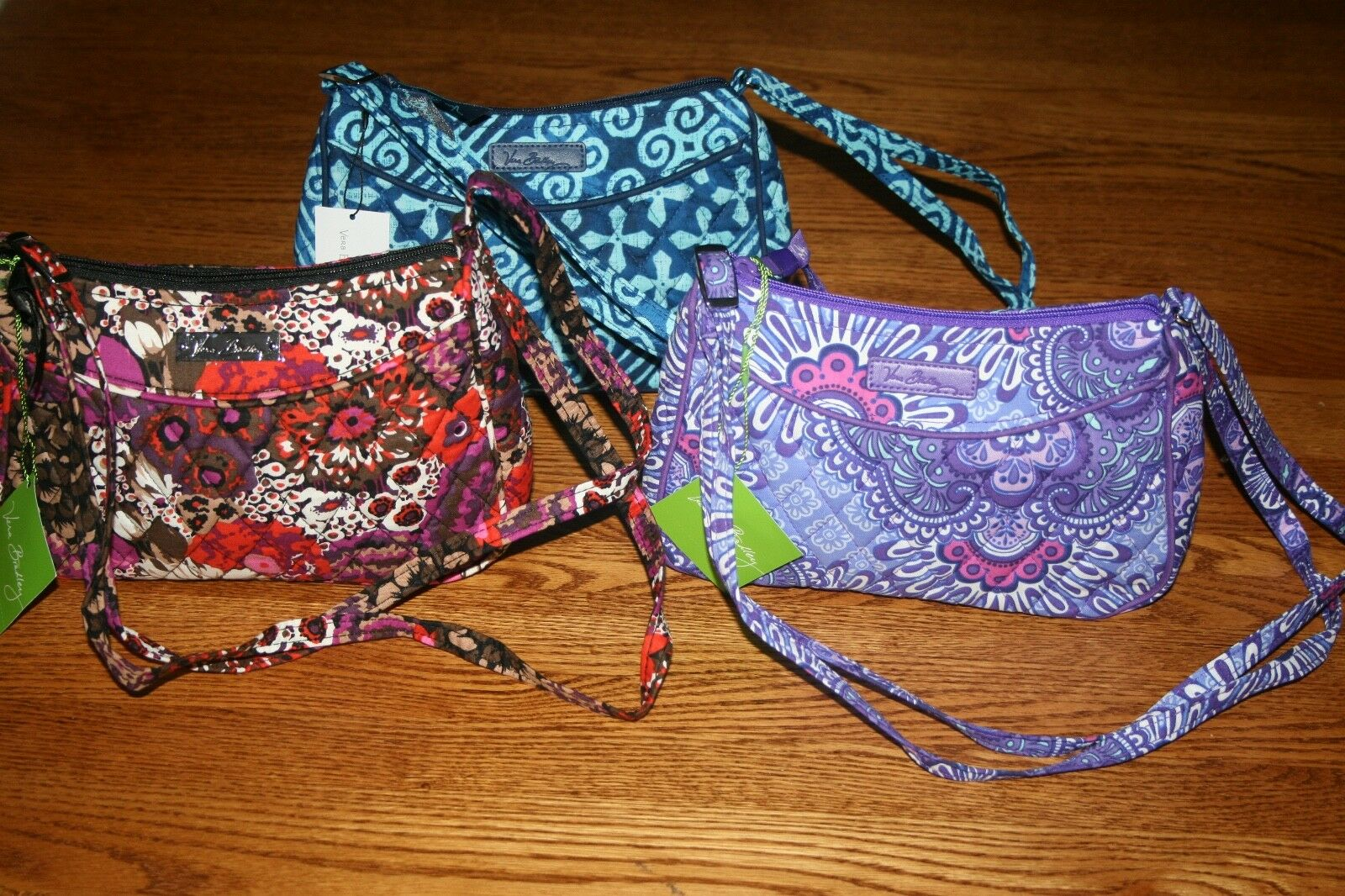 33c1619e766c Vera Bradley 4pc Cosmetic Organizer Painted Feathers Little Crossbody Purse  for sale online