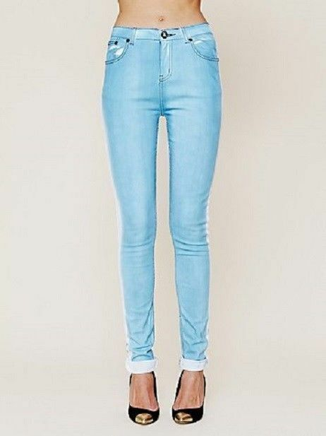 Neuf avec étiquettes Libre People by One Teaspoon Tuxedo Skinny   bleu jean 28