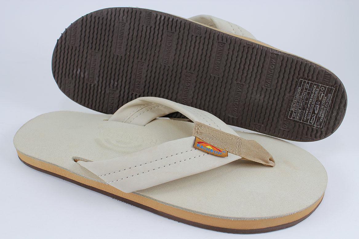 femmes Rainbow Single Layer Premier Leather 301ALTS0 Sand 100% Original Brand New