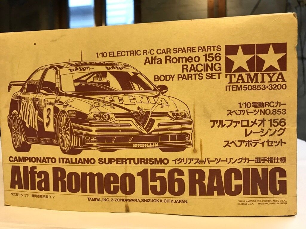 Tamiya NIB Alfa Romeo 156 Racing Body Set (50853)