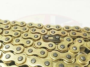 Heavy-Duty-Motorcycle-Drive-Chain-428-124-Gold-for-Honda-CBR125-04-10