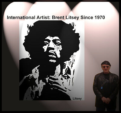 """"""" Jimi Hendrix """" by International Artist Brent Litsey I will review all offers"""