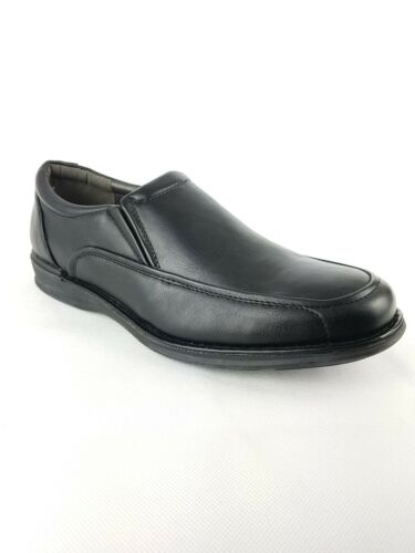 MENS BATA FAUX LEATHER SLIP ON FORMAL CASUAL OFFICE SHOES BOOTS BLACK SIZE 7-12