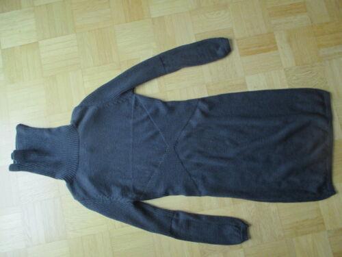 Grau Wolle Retro Lancini Stiefelkleid Rollkragen S Wollkleid 36 Boho Strickkleid wxIHTqBUH