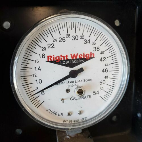 USED Right Weigh 310-54-PP TANDEM Axle Load Scale for Single HCV Air Suspensions