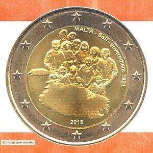Sondermuenzen-Malta-2-Euro-Muenze-2013-Selbstverwaltung-Sondermuenze-Gedenkmuenze