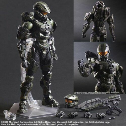 """Play Arts KAI HALO 5 Guardians Master Chief 10/"""" REPLICA Figure Toy New"""