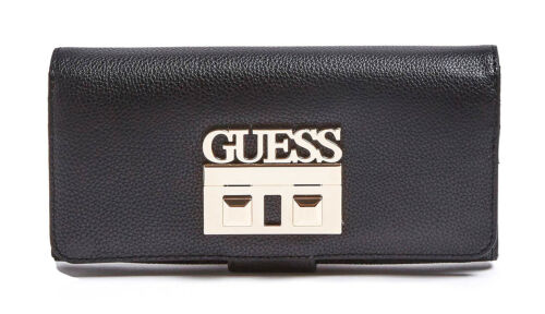 GUESS LOGO LUXE File Clutch Coal Damen-Geldbörse Portemonnaie Wallet