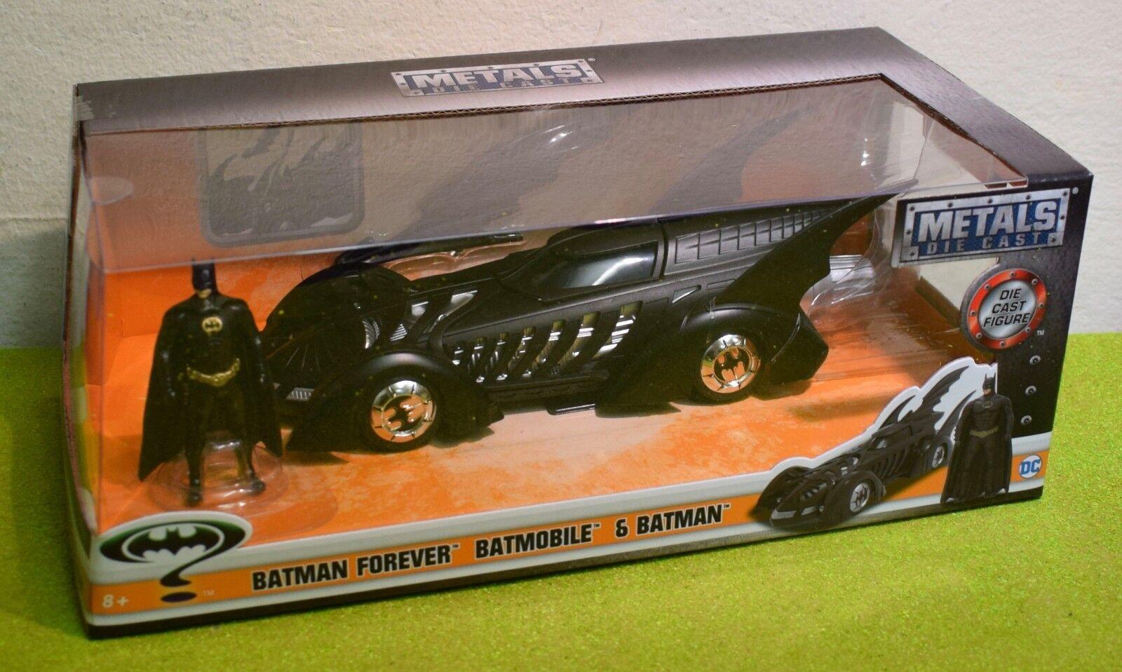 DIE-CAST JADA 1 24 SCALE BATMAN FOREVER BATMOBILE & BATMAN FIGURE