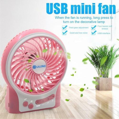 Portable Handheld Mini Camping Fan,Rechargeable/&USB Speeds Fan 3 J6J1