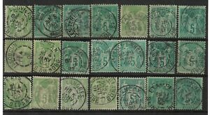 P0029-Lot-Sage-obliterations-choisies-ville-gare-convoyeur-etc