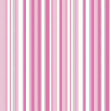 Item 5 WHITE SILVER PINK STRIPE STRIPES WALLPAPER GIRLS BEDROOM DEBONA 10004
