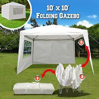 Mcombo 10x10 Ez Pop Up 4 Walls Canopy Party Tent Gazebo