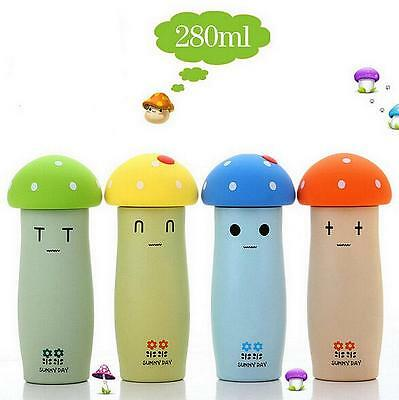Mushroom Stainless Steel Insulated Vacuum Thermos Mugs Cup Flask Bottle travel