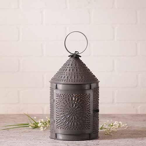 Fireside Lantern in Blackened TinCountry Accent Table Light