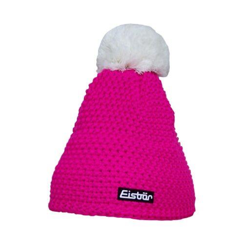Eisbär Pompon Damen Winter Mütze Strickmütze Bommelmütze
