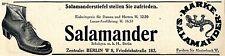 Schuhges. m.b.H. Berlin Salamander Stiefel Schutz- Marke Klassische Annonce 1913