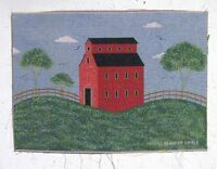 2 Warren Kimble Country Red Barn Pillow Wall Tapestry Fabric Panel Material Home