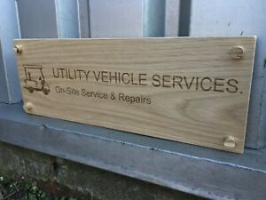 Custom Engraved Outdoor Oak Wooden Name Plaque Carved Personalised Sign