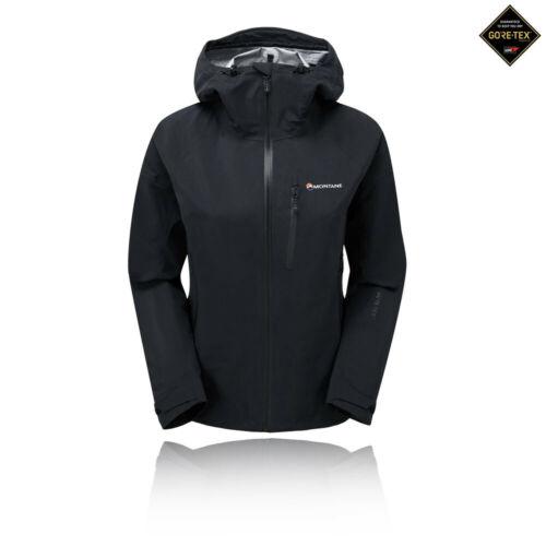 Montane Womens Fleet Jacket Top Black Sports Outdoors Full Zip Hooded Waterproof