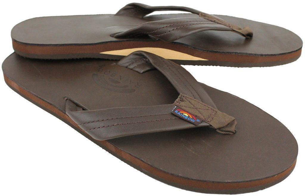 Rainbow Sandals 301ALTS Classic Mocha Single Layer Flip Flop Flop Flip Men's sizes S-XXXL! e12747