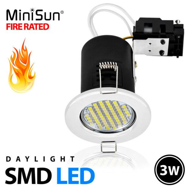 Fire Rated Daylight SMD LED GU10 Ceiling Light Downlight Downlighter Spotlight