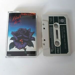 THIN-LIZZY-BLACK-ROSE-CASSETTE-TAPE-1979-GREEN-PAPER-LABEL-VERTIGO-UK