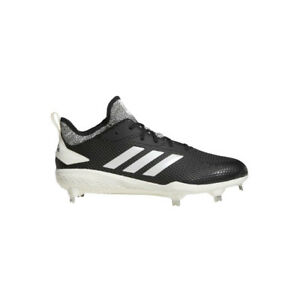 cfc6d828410 Adidas Adizero Afterburner V Adult Men s Black Metal Baseball Cleats ...