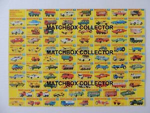 Matchbox-Lesney-Serie-1-75-Todos-Los-Modelos-Tipo-F-POSTER-TIENDA-LETRERO-ANUNCIO-FOLLETO