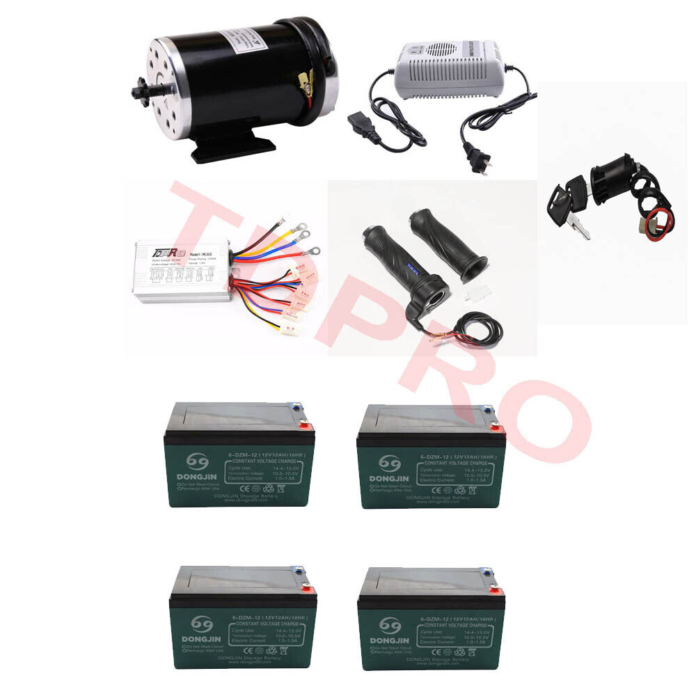 48v 1000w Electric Motor Speed Controller Batteries Charger Thredtle Grips Keys