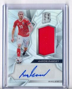 new arrival d1c82 8bdf0 Details about AARON RAMSEY 2016 PANINI SPECTRA AUTOGRAPH JERSEY #88/199  WALES AUTO RELIC