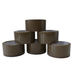6-Rollen-Paketklebeband-66m-x-48mm-braun-Klebeband-Paketband-Kleberolle