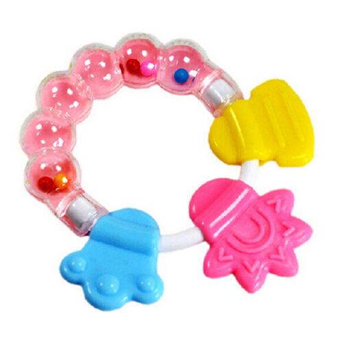 Baby Rattle Teether Infant Molar Zahnpflege Rasseln Schnuller Spielzeug* WQ