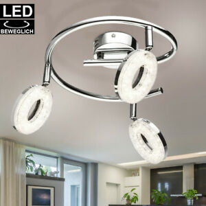 LED Retro Decken Leuchte Kinderzimmer Chrom Spot Strahler Rondell Küchen Lampe