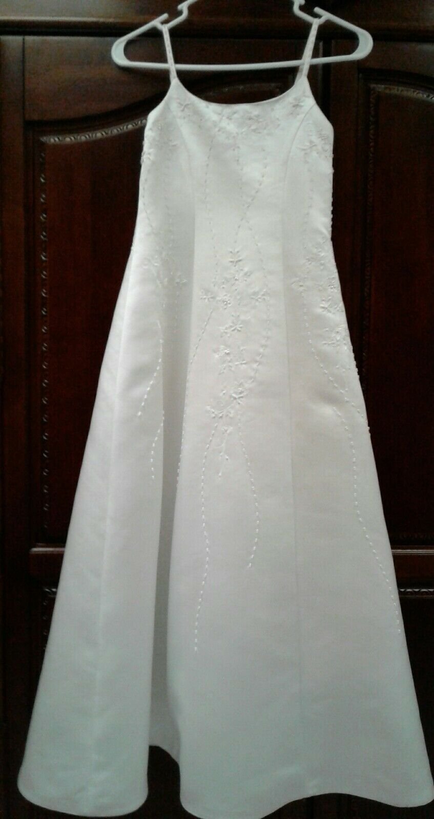 Girls Ivory Formal Dress with Shawl Size 10
