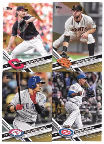 2017 Topps Baseball Gold Parallel You Pick Complete Your Set