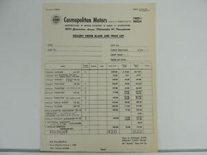1958 Parilla Motorcycle Parts And Accessories Dealers Price List Scrambler L1286 Ebay