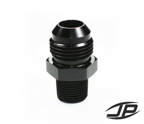Straight Adapter 10 AN to 3//8 NPT Fitting Black HIGH QUALITY!