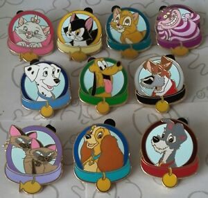 Magical-Mystery-Pins-Series-5-Dog-and-Cat-Collars-Set-Choose-a-Disney-Pin
