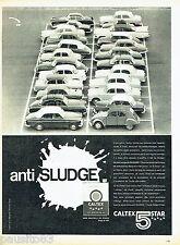 PUBLICITE ADVERTISING 066  1961  Caltex 5 star anti sludge huile moteur
