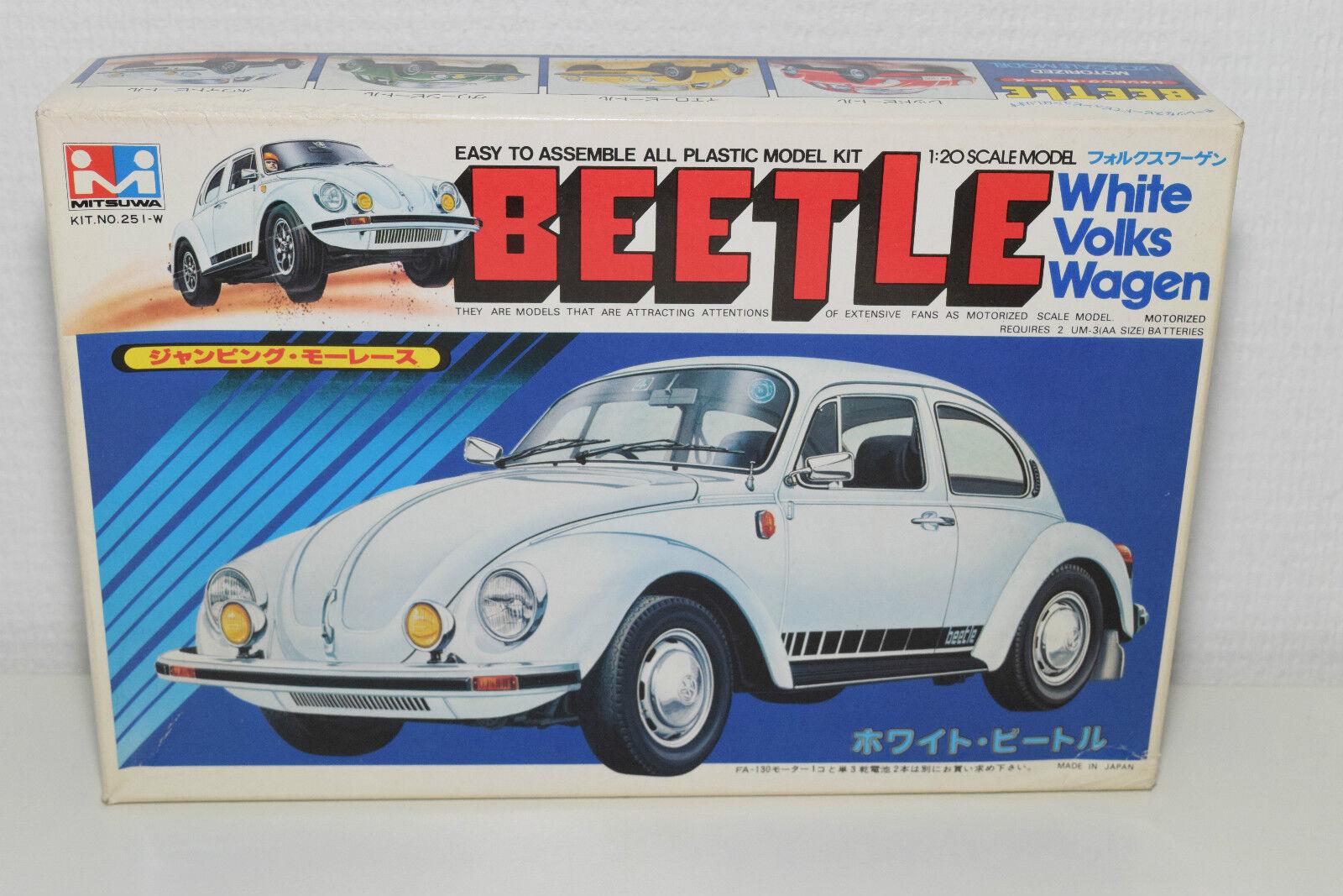 MITSUWA JAPAN KIT MW-500 251-W VW VOLKSWAGEN BEETLE KAFER Weiß MINT BOXED