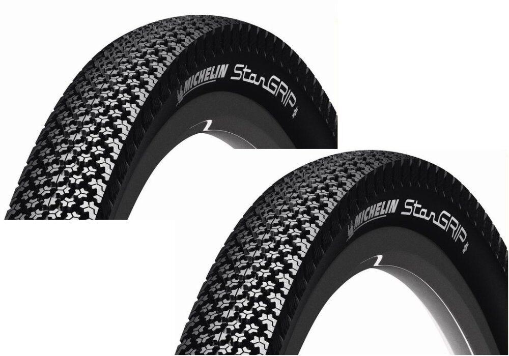 2x Michelin Michelin Michelin Star Grip Fahrradreifen Draht Reflex alle Größen + Schläuche 81396c